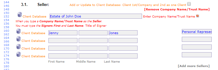 Add or Update to Client Database