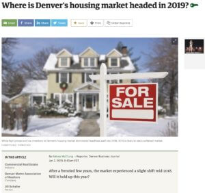 Where is Denver's Housing Market headed in 2019