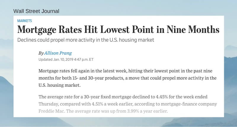 Mortgage Rates Hit Lowest Point