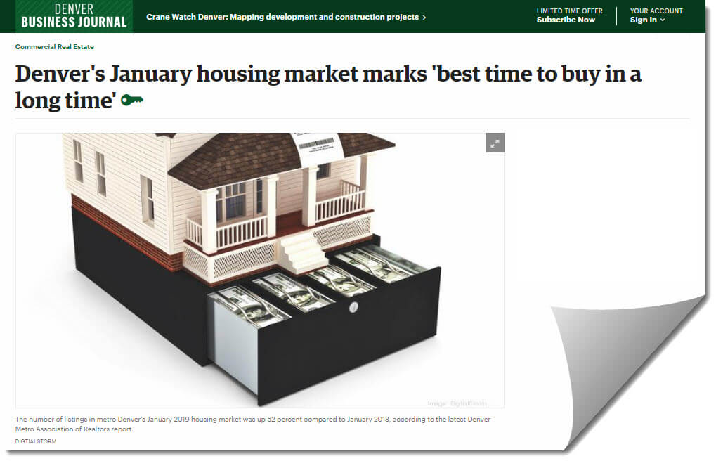 DBJ: Denver's January housing market marks 'best time to buy in a