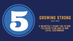 growing strong 5th anniversary