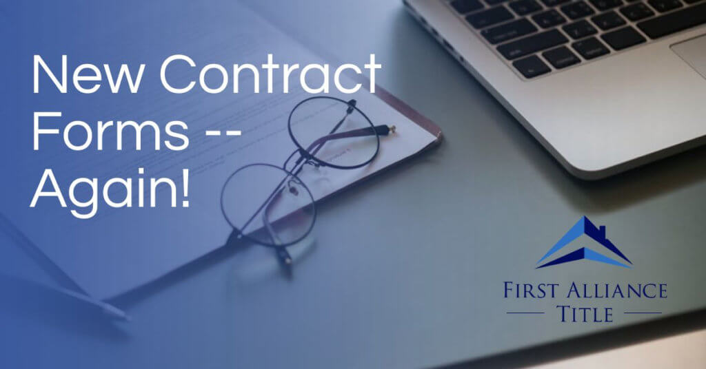 New Contract Forms Again