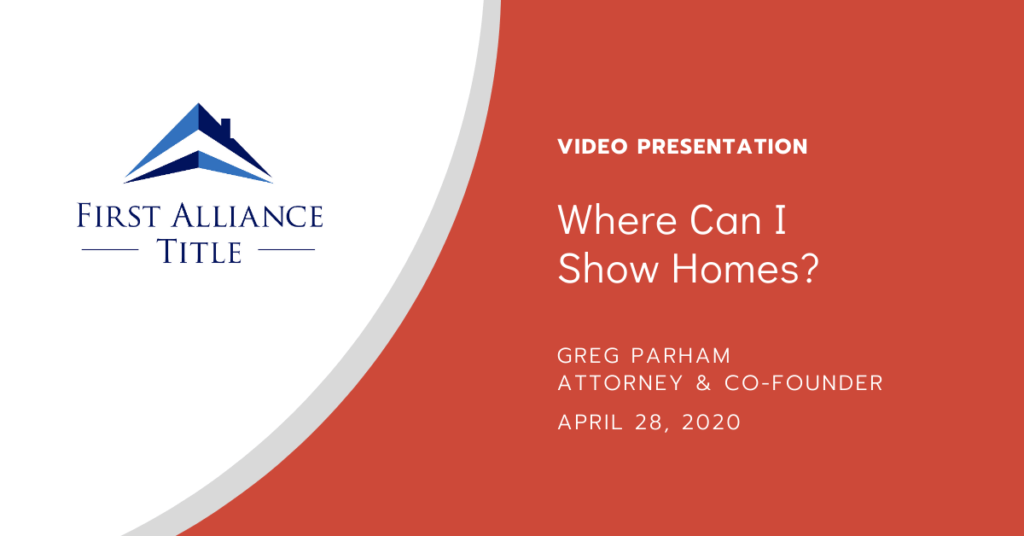 Where Can I Show Homes?