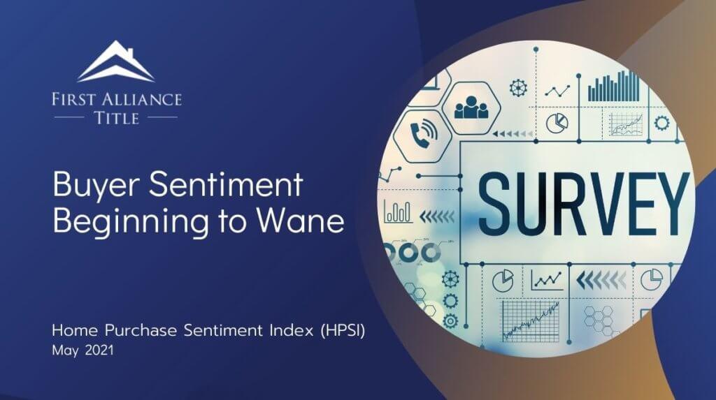 Buyer Sentiment Beginning to Wane